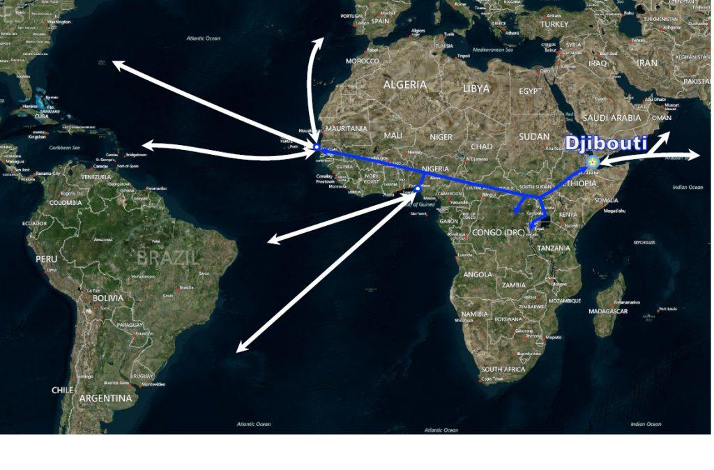 trans-african_railway จิบูตี ตะวันออลาง แอฟริกาเหนือ middle east north africa MENA menahalallife freezone